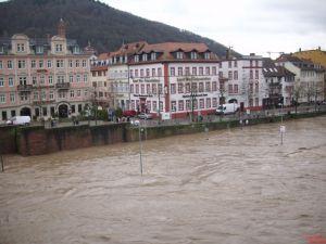 Neckarstaden mit Hochwasser