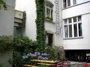 Wohnheim Gartenbereich
